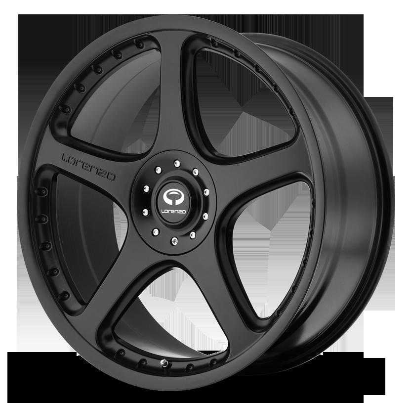- Wheel Specials - Lorenzo Wheels WL028 Satin Black