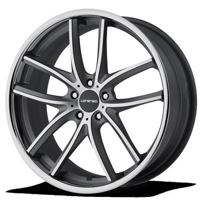 - Wheel Specials - Lorenzo Wheels WL199 Gray/S.S. Lip