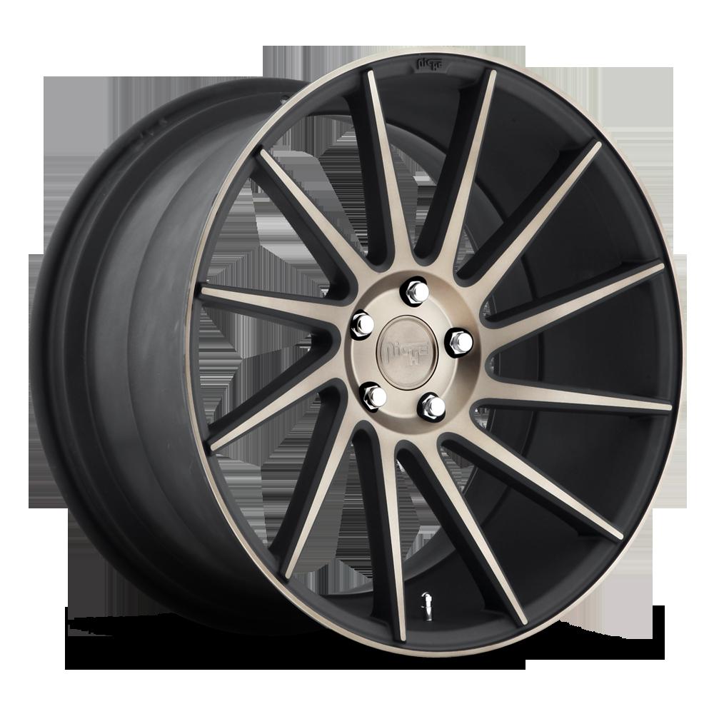 Niche Road Wheels M114 Surge R Black/Machined-Milled
