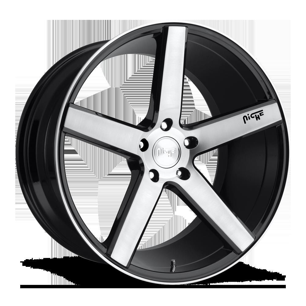 20x8 Niche Road Wheels M124 Milan Silver