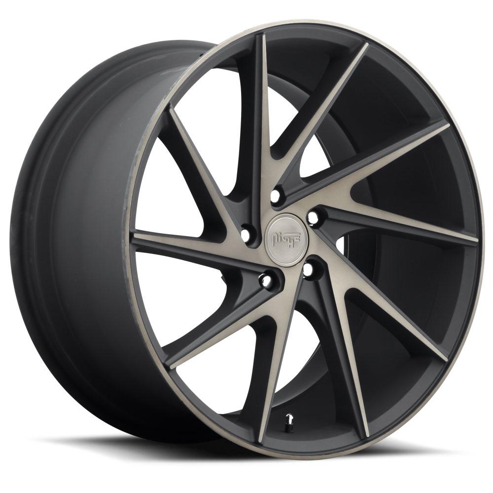 Niche Road Wheels M163 Invert Black/Machined-Milled