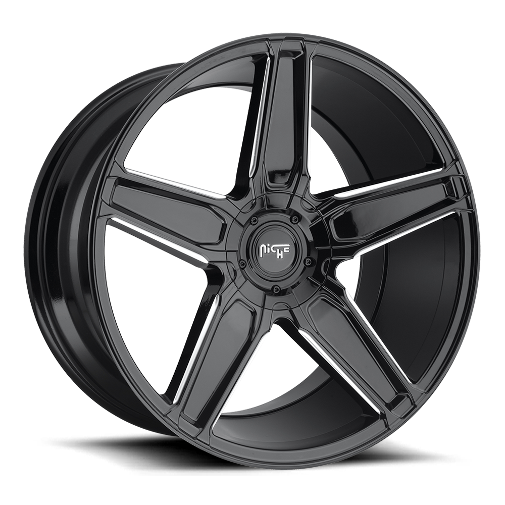 Niche Road Wheels M180 Cannes Black/Machined-Milled