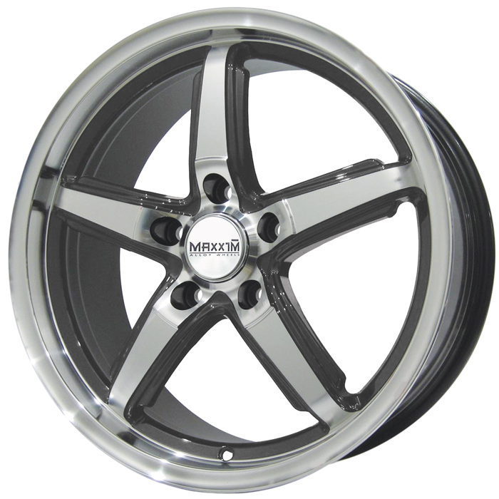 Maxxim Wheels Allegro Machined Face Graphite Accents