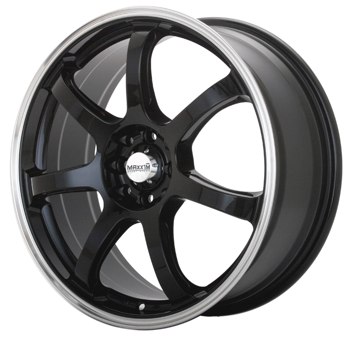 Maxxim Wheels Knight Gloss Black W/Machined Lip