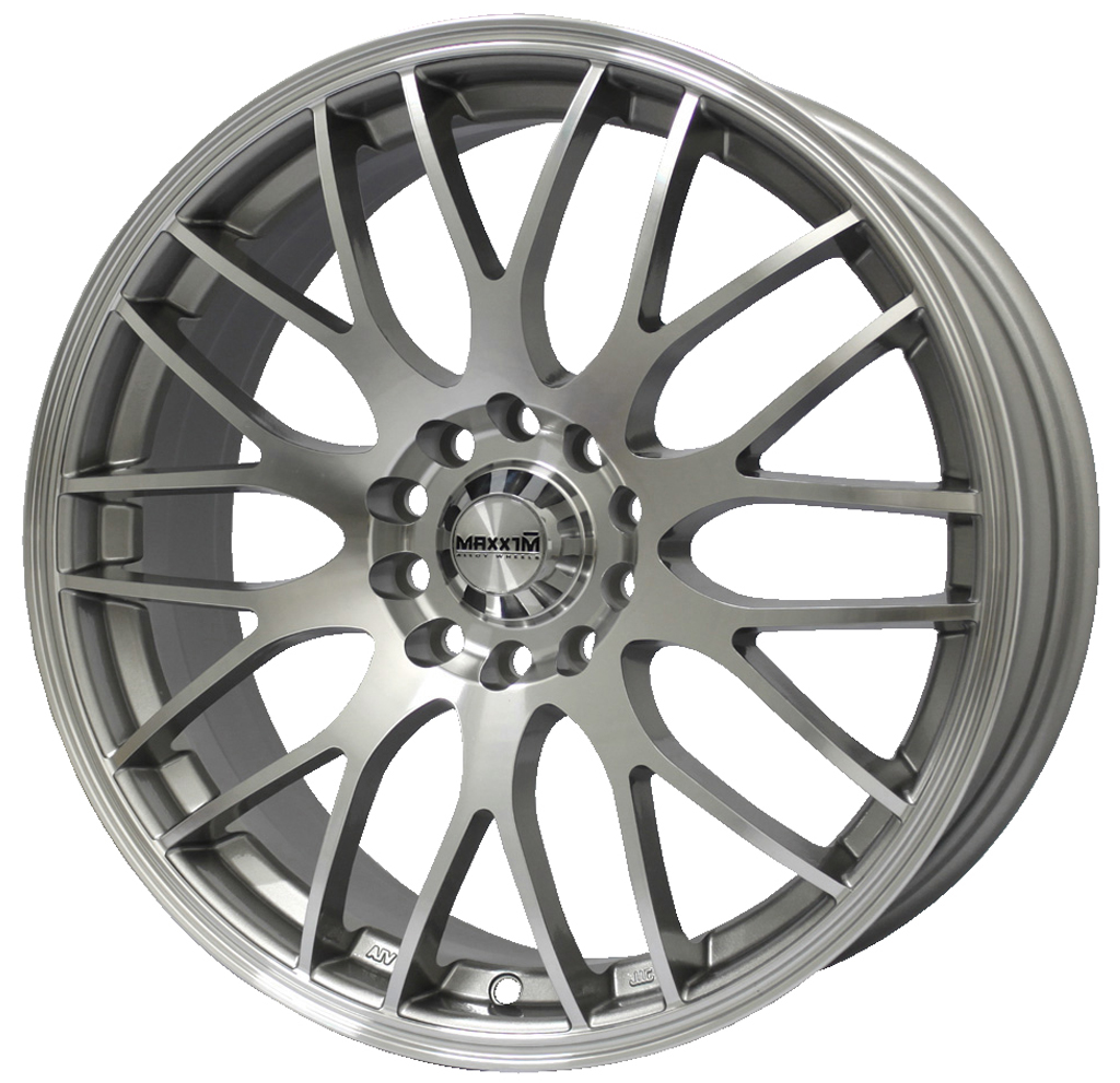Maxxim Wheels Maze Silver W/Machined Face