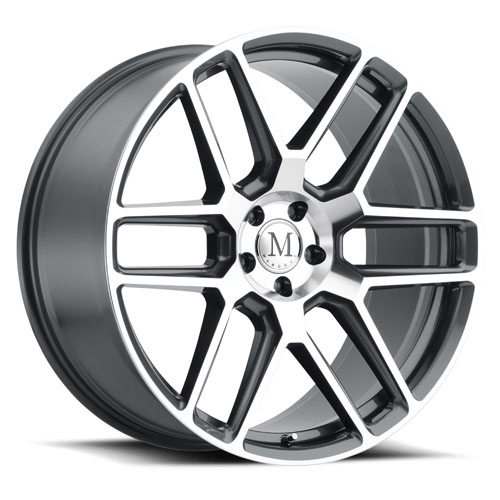 17x8 Mandrus Mercedes Wheels Otto Black