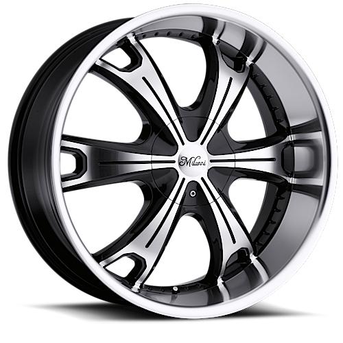 Milanni Wheels 452 Stellar Gloss Black Machine Face Lip