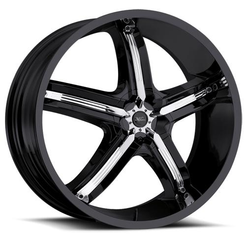 Milanni Wheels 459 Bel-Air 5 Gloss Black/Chrome Accent