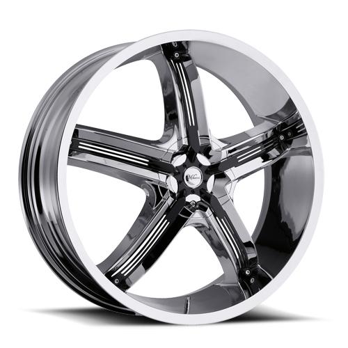 Milanni Wheels 459 Bel-Air 5 Chrome/Black Accents