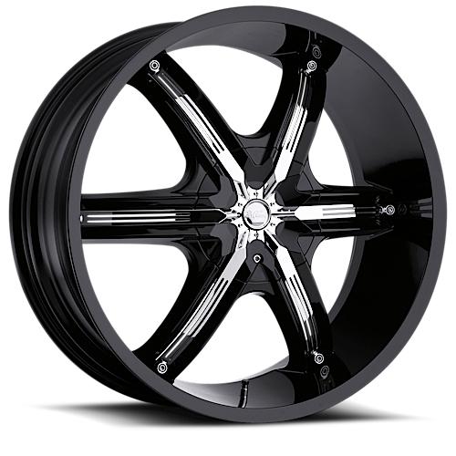 Milanni Wheels 460 Bel-Air 6 Gloss Black/Chrome Accent