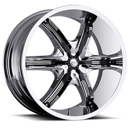 Milanni Wheels 460 Bel-Air 6 Chrome/Black Accents