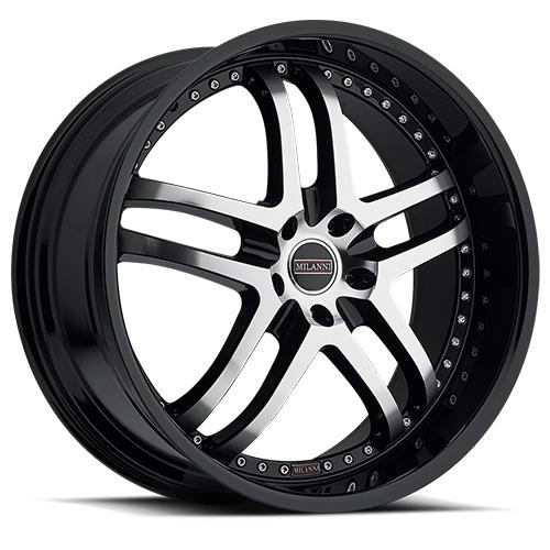 Milanni Wheels 9012 Kapri Gloss Black Machined Face