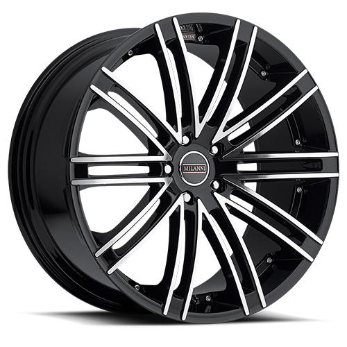 Milanni Wheels 9032 Kahn Gloss Black Machined Face