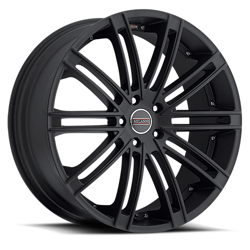 18x8.5 Milanni Wheels 9032 Kahn Satin Black