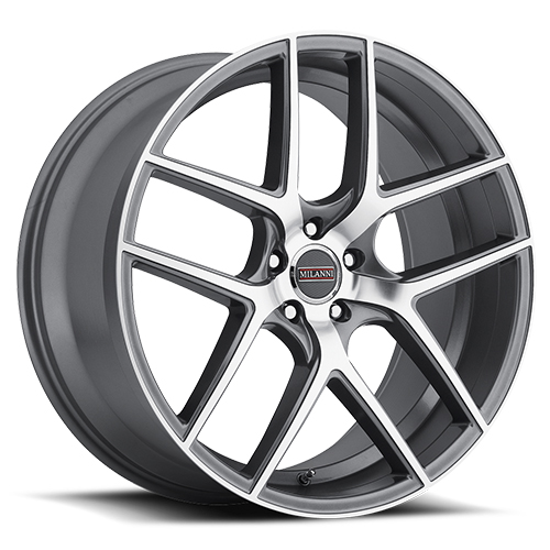 Milanni Wheels 9052 Tycoon Graphite Machined Face