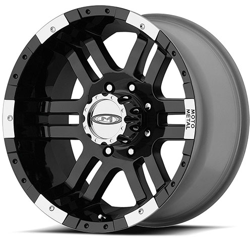 18x9 Moto Metal Offroad Wheels MO951 Gloss Black Machined