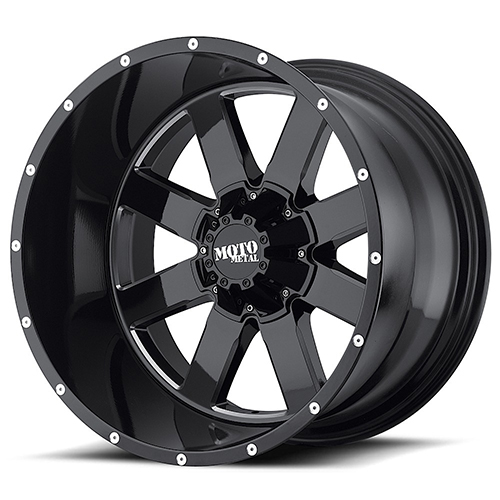 Moto Metal Offroad Wheels MO962 Gloss Black With Milled Accents
