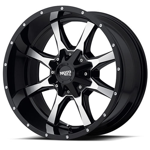 Moto Metal Offroad Wheels MO970 Gloss Black Machined With Milled Accents