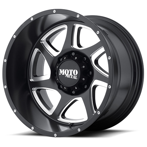 18x9 Moto Metal Offroad Wheels MO976 Satin Black Milled