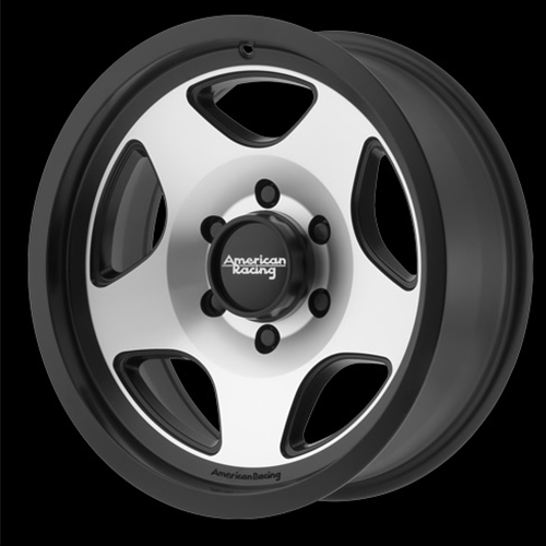 American Racing Wheels Mod 12 Satin Black Machined