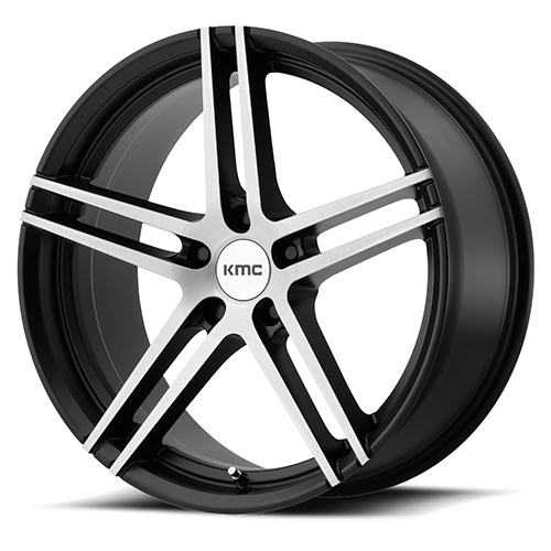 KMC Wheels Monophonic Satin Black Brushed