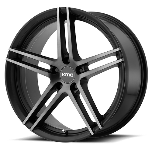 KMC Wheels Monophonic Satin Black W/ Titanium Black Face
