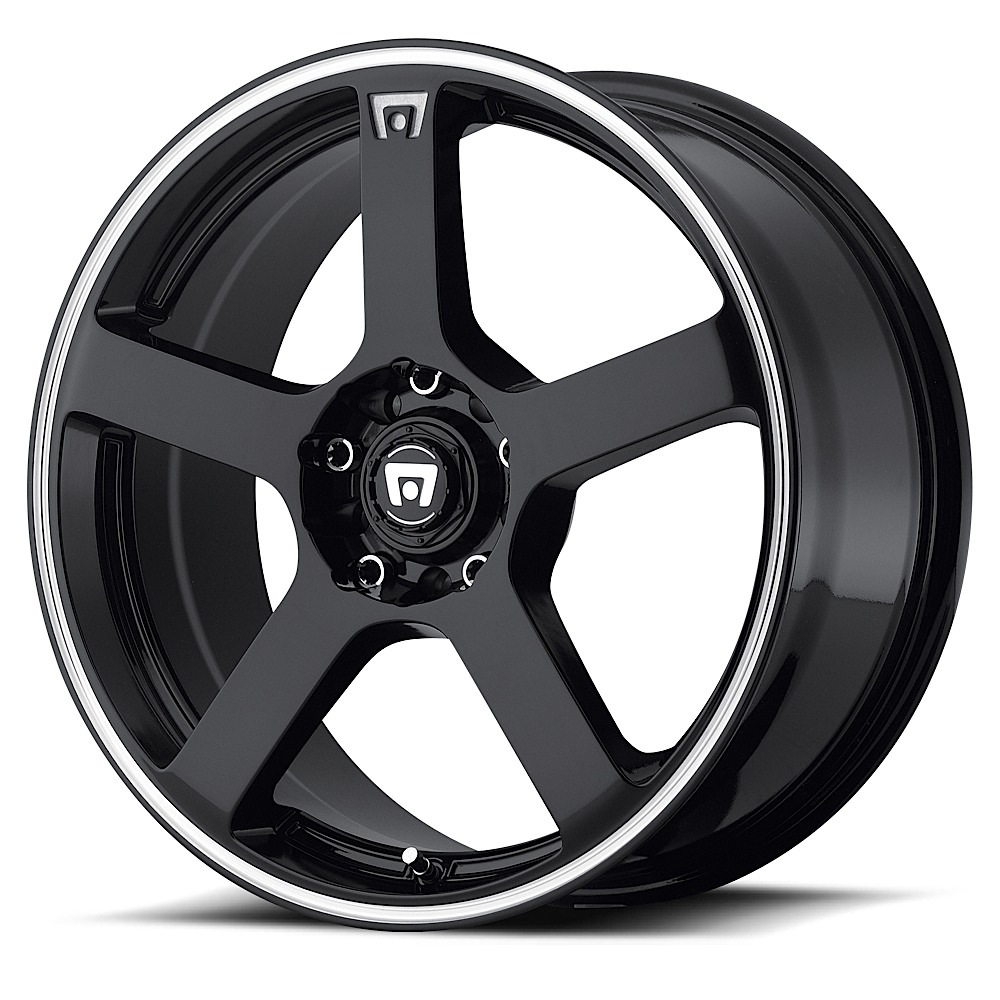 Motegi Racing Wheels MR116 Gloss Black With Machined Flange