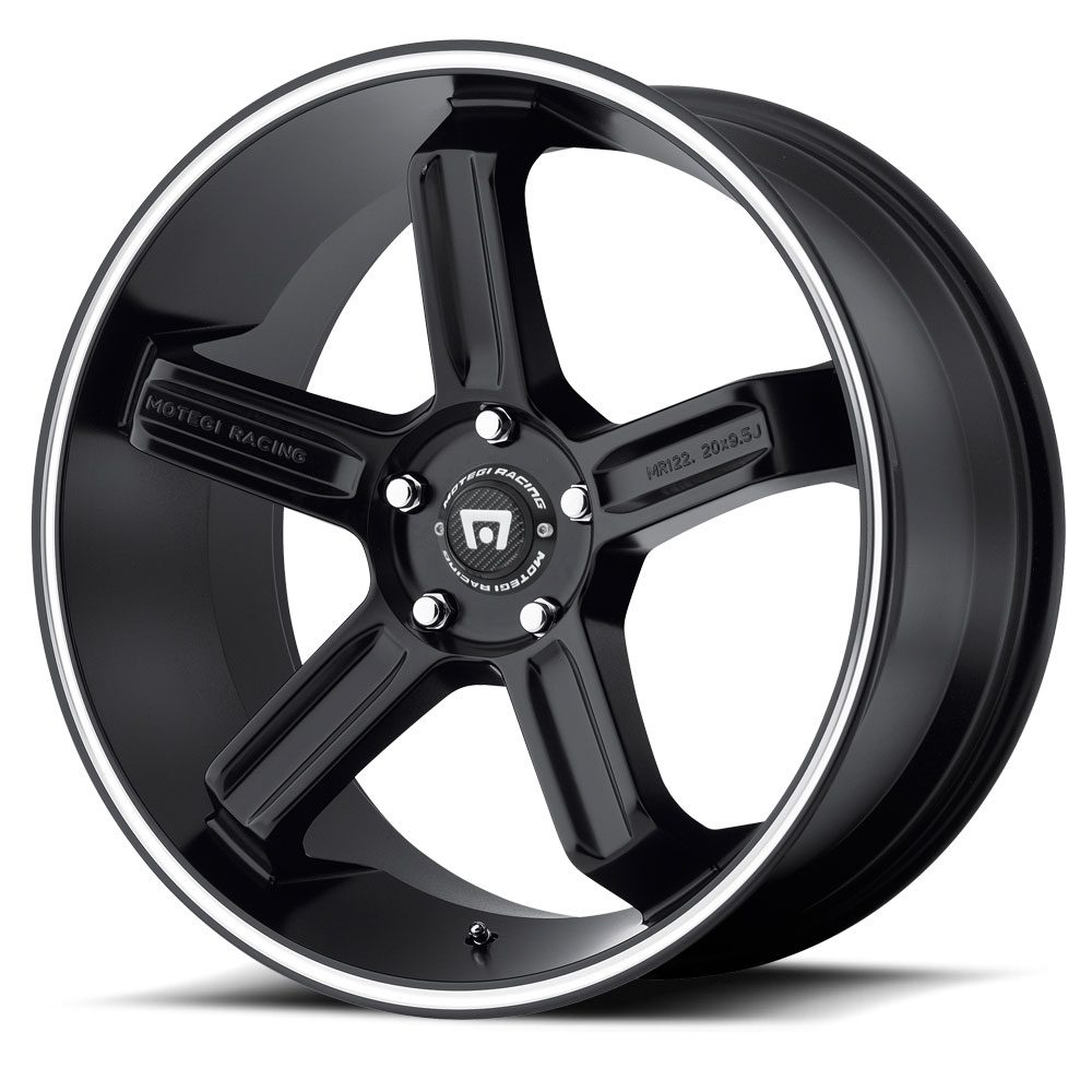 Motegi Racing Wheels MR122 Satin Black W/ Machined Stripe