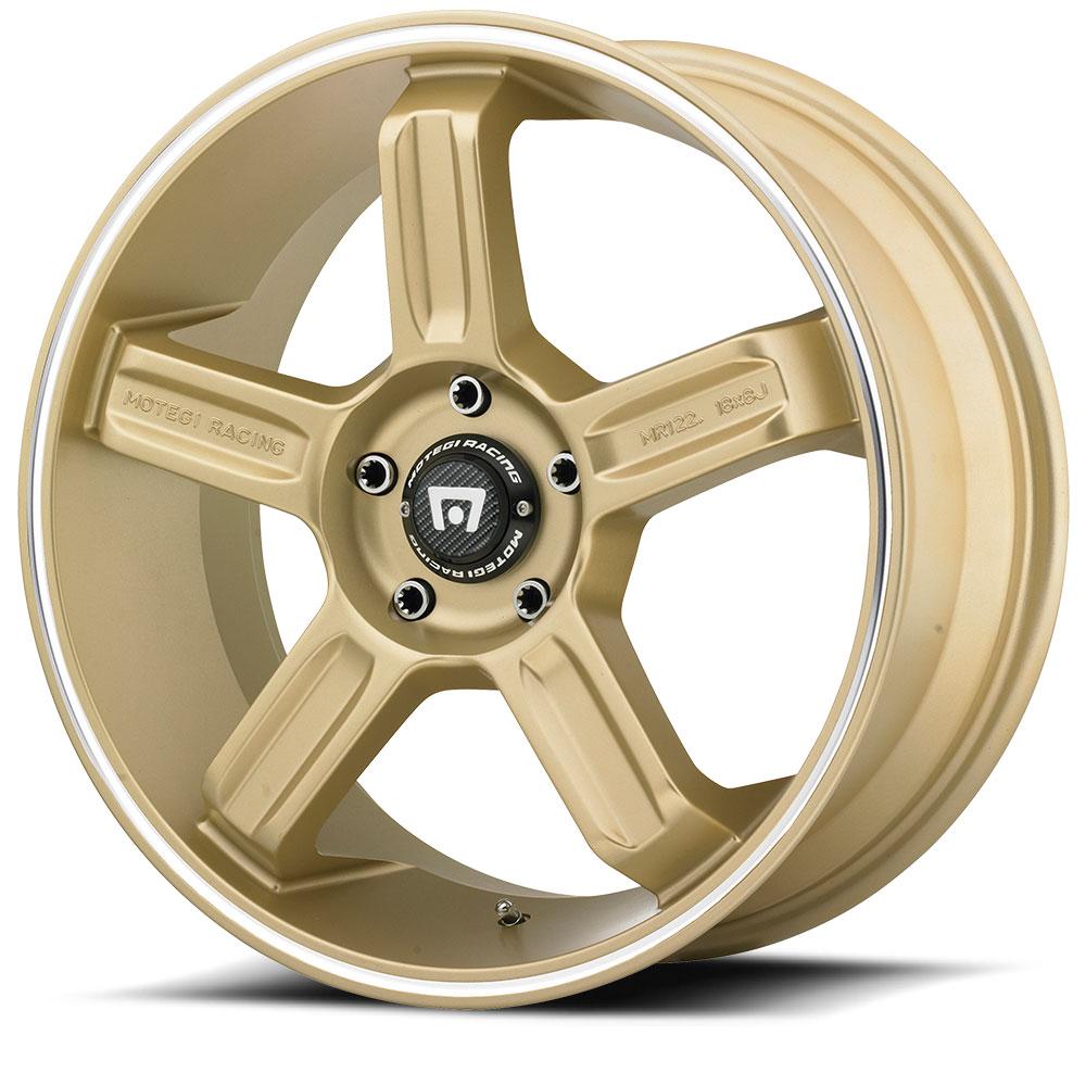 Motegi Racing Wheels MR122 Gold W/ Machined Stripe