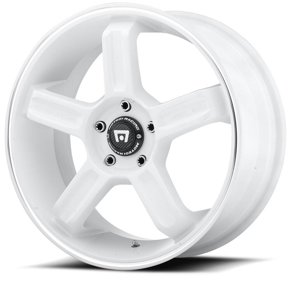 Motegi Racing Wheels MR122 White W/ Machined Stripe