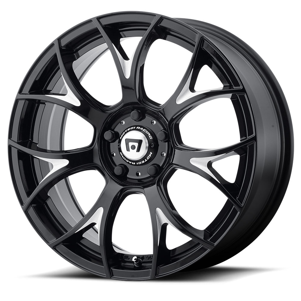Motegi Racing Wheels MR126 Gloss Black With Milled Accents