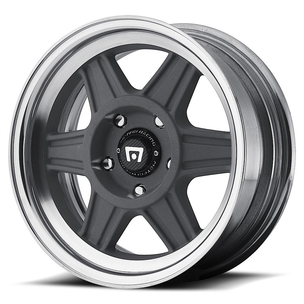 Motegi Racing Wheels MR224 Mag Gray With Polished Barrel