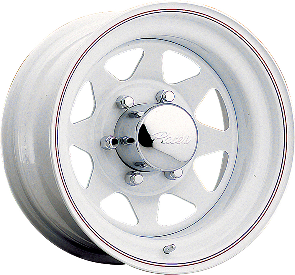 Pacer Wheels White Spoke White