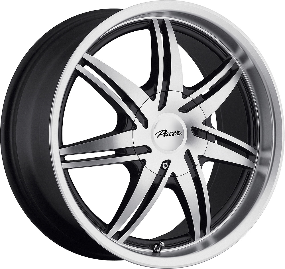 Pacer Wheels Mantis Diamond Cut Black Accents