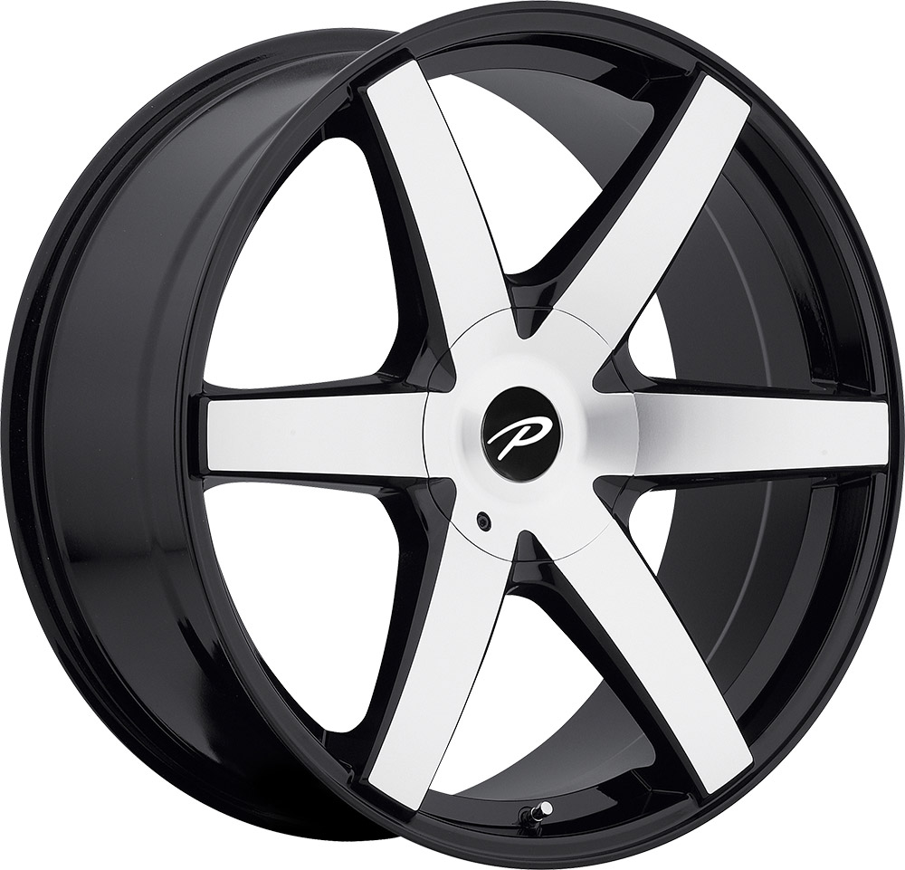Pacer Wheels Ovation Machined Face Gloss Black Accent