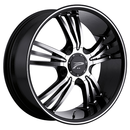 Platinum Wheels 122 Wolverine Gloss Black w/ Diamond Cut Accents