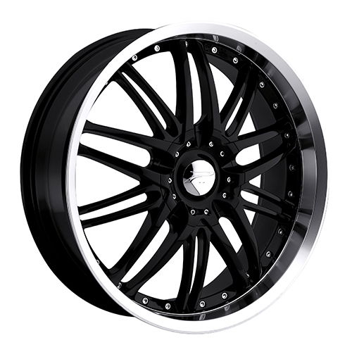Platinum Wheels 200 Apex Gloss Black w/ Diamond Cut Lip