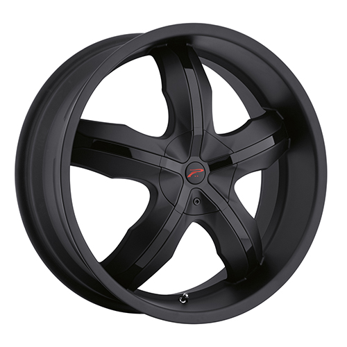 Platinum Wheels 212 Widow Matte Black w/ Gloss Black Insert