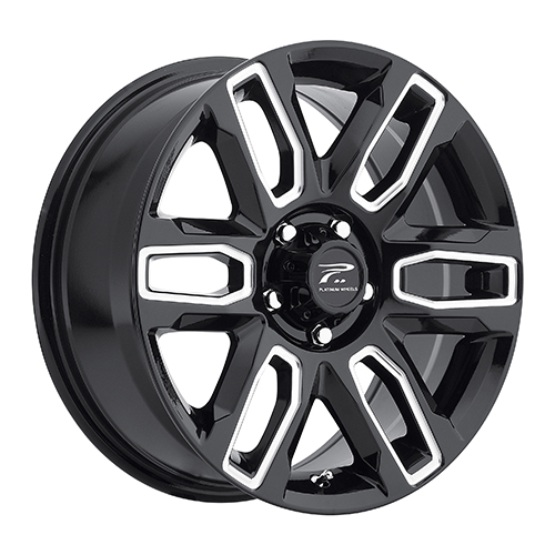 Platinum Wheels 252 Allure Gloss Black w/ Milled Accents