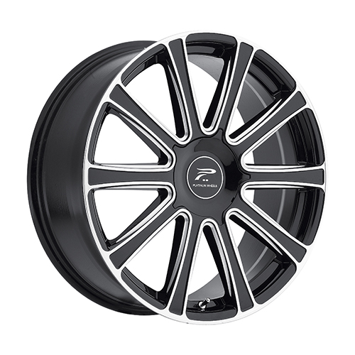 Platinum Wheels 410 Divine Gloss Black w/ Milled Accents & Diamond Cut Face