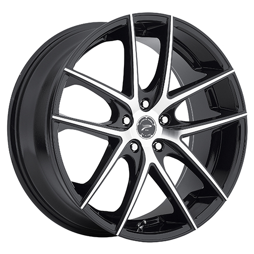 Platinum Wheels 412 Opulent Gloss Black w/ Diamond Cut Face