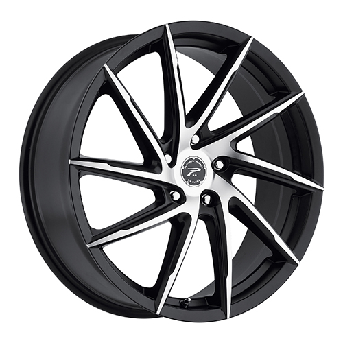 Platinum Wheels 433 Hawk Satin Black w/ Diamond Cut Face