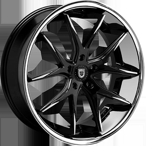 Lexani Wheels R12 Machined Tips W/SS Lip