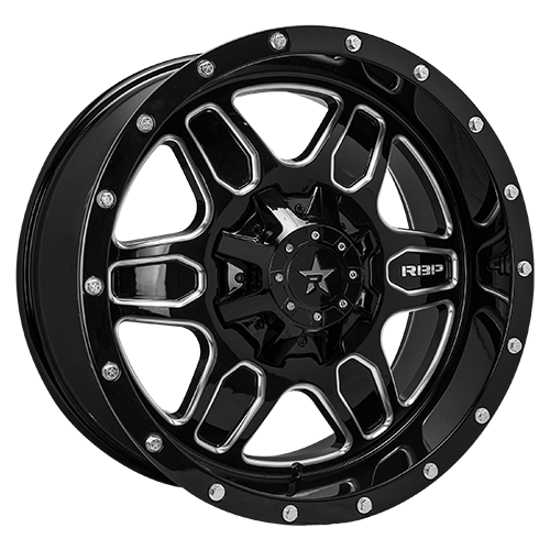 RBP Offroad Wheels 86R Tactical Gloss Black Machined Grooves