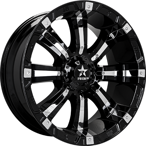 RBP Offroad Wheels 94R Black with Chrome Inserts