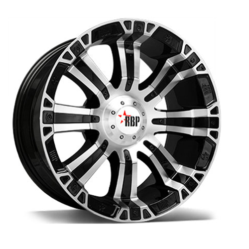 RBP Offroad Wheels 94R Machined Face Black Inserts