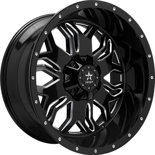 RBP Offroad Wheels Blade Gloss Black Machined Grooves