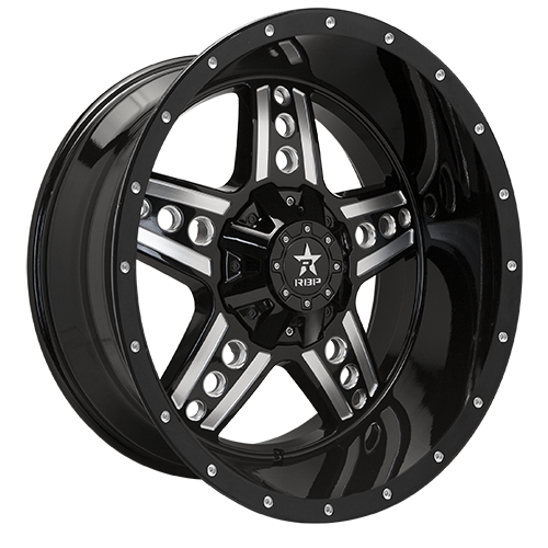 RBP Offroad Wheels Colt Gloss Black Machined Grooves