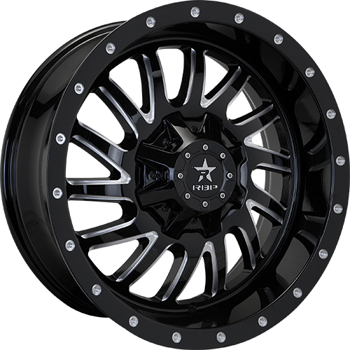 RBP Offroad Wheels Uzi Gloss Black Machined Grooves