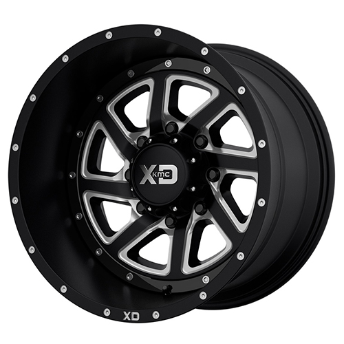 XD Series by KMC Wheels Recoil Satin Black Milled With Reversible Ring